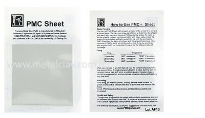PMC + Sheet Fine Silver Metal Clay for making Jewellery