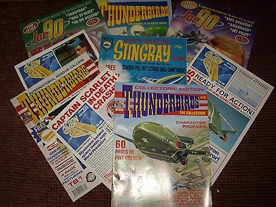 EIGHT NEW COMICS 80s&90s (THUNDERBIRDS)(JOE 90)(STINGRAY)(21st CENTURY)& BINDER