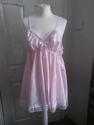 Adult Baby~Sissy~Maids~Unisex~Tv/cd Gorgeous Satin And Lace Babydoll ~ Nightie