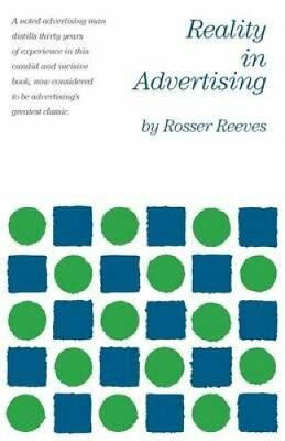 Reality in Advertising by Rosser Reeves 9780982694145 (Paperback, 2015)
