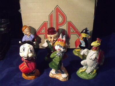 Looney Tunes SET OF 6  5 inch Alpa Empty Decanter WARNER BROS. with box & Tags