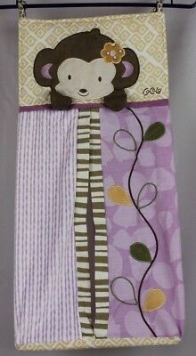 Cocalo Baby Girl Jacana Nursery Diaper Stacker Monkey Jungle Safari Purple (AB)