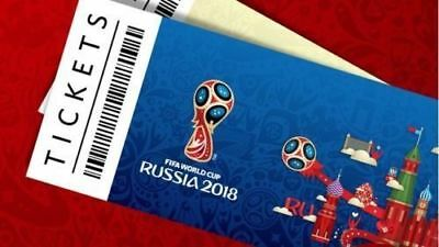 WC Soccer Russia 2018  6 x Spain Team Tickets