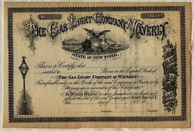 Gas Light Company of Waverly Stock Certificate New York