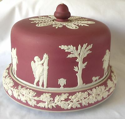 RARE Crimson Cheese Dome and Stand - Crimson Wine REDUCED Wedgwood ??