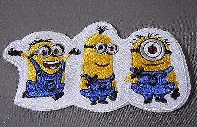 """Despicable Me - MINIONS- Embroidered Iron-On Patch 3.5"""" NEW"""
