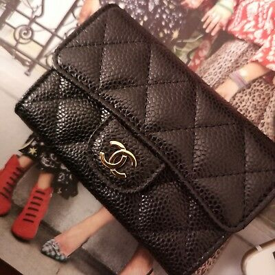 a841180806a1 AUTHENTIC CHANEL CLASSIC Flap Card Holder - £409.00 | PicClick UK