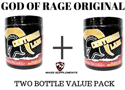Centurion Labz GOD OF RAGE Two Bottle Value Pack (Original Formula) Wrathberry