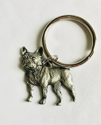 Fine Pewter French Bulldog Dog Puppy Keychain
