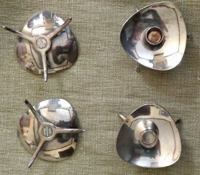 4x cohr denmark candle taper holders, silver plate, mid-century modern, holder