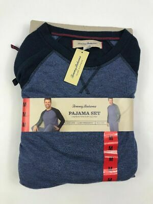 Tommy Bahama Mens 2-Piece Pajama PJ  Lounge Set Blue Sz Medium