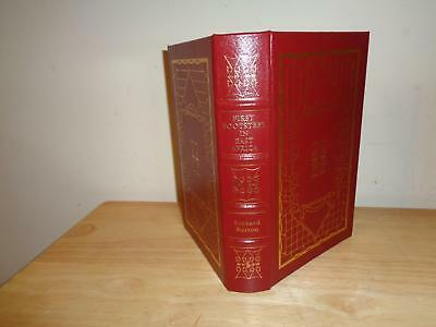FIRST FOOTSTEPS IN EAST AFRICA Richard Burton Easton Press LEATHER exploration