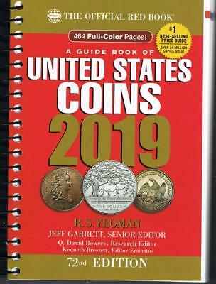 2019 Official Red Book Of United States Coins - 464 Full Color Pages  R.s.yeoman