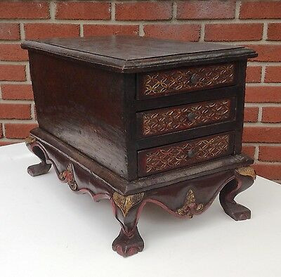 19th Century Antique Straits Chinese Primitive 3 Drawer Chest