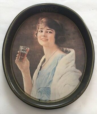VINTAGE COCA COLA PARTY GIRL SERVING TRAY - BEAUTIFUL Coke Collectible