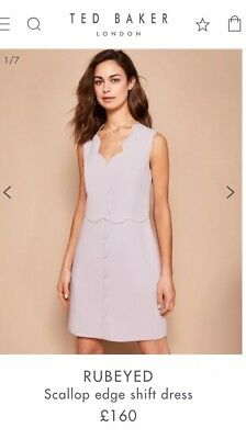 72ac4c267a20 TED BAKER FLORAY Embellished Bodycon Cut Out Dress Wedding Baby Pink ...