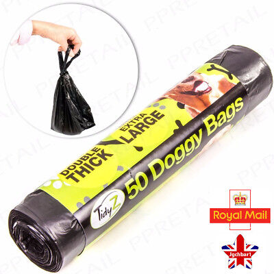 Dog Poo Bags doggy Poo Bags Extra Strong Large Thick Tie Handle Bags 1 - 300