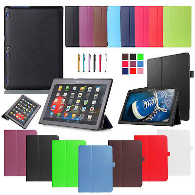 "For Lenovo Tab 3 10 10.1"" TB3-X70F X70N X70L Tablet Smart PU Leather Case Cover"