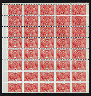 """Canada Stamps - Pane of 40 - 1937, King George VI """"Coronation"""" #237 (15) - MNH"""