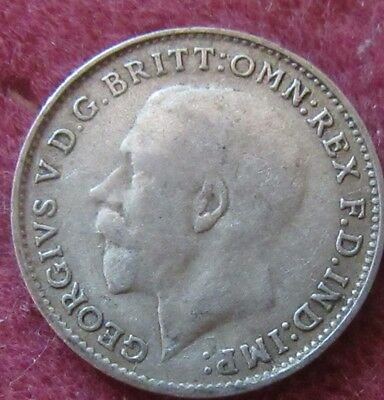 British - 1921  George V  Three Pence - Silver coin.