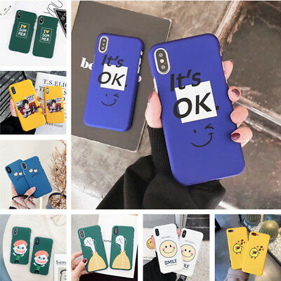 Lovely Pattern Shockproof Hard Slim Half PC Case Cover For iPhone XS Max XR 8 7