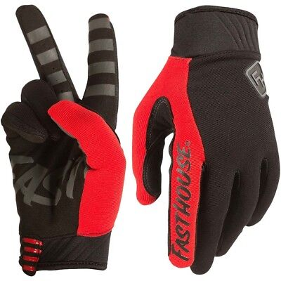 Fasthouse NEW Mx 2018 Grindhouse 2.0 Red Adult Motocross Dirt Bike Gloves