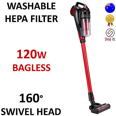New CORDLESS HANDHELD STICK VACUUM CLEANER Bagless Vaccum Rechargeable 120w