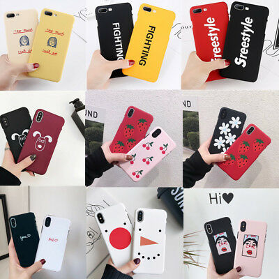 Cute Pattern Shockproof Ultra-thin Hard Case Cover For iPhone XS Max XR X 8 6s 7