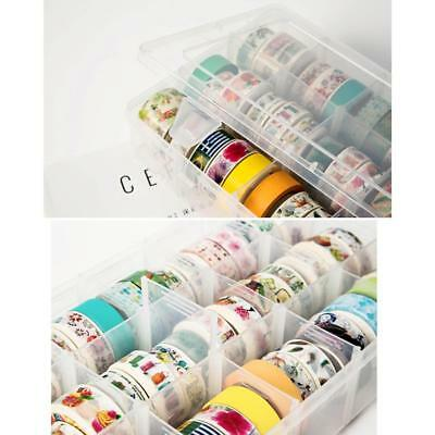 Transparent Washi Tape Box Stationary Storage Box Washi Tape Organizer Box New