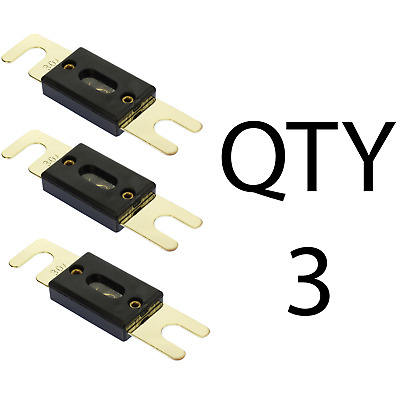 (3) QTY 3 30 Amp Gold Plated ANL Inline Fuse by Voodoo Car Audio For Fuse holder