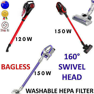 New CORDLESS HANDHELD STICK VACUUM CLEANER Bagless Vaccum Rechargeable Bag Less