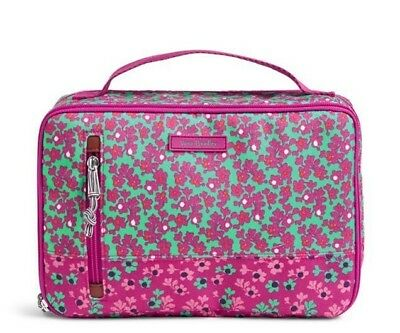 NWT Vera Bradley Large Blush & Brush Case Ditsy Dot