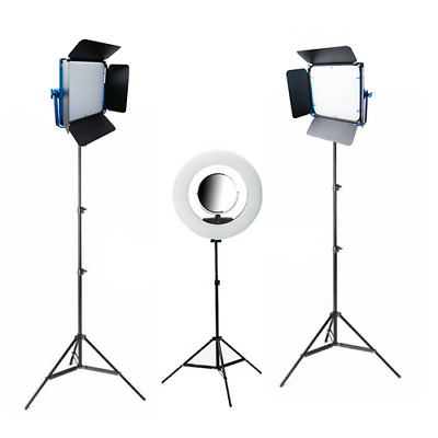 Youtube Pro LED Lighting Kit with LED Ring Light for Videography