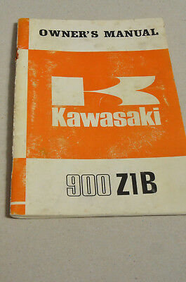 Original Kawasaki 900 Z1B Owner's Manual -INFO mmoetwil@hotmail.com +32475277772