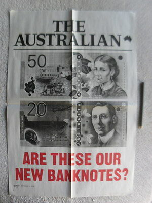 Australia New bank Note poster Australiana Money Currency Numismatics