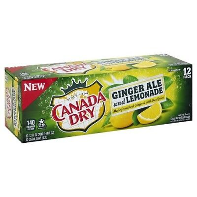 Canada Dry Ginger Ale and Lemonade Soda 12 Pack of Cans