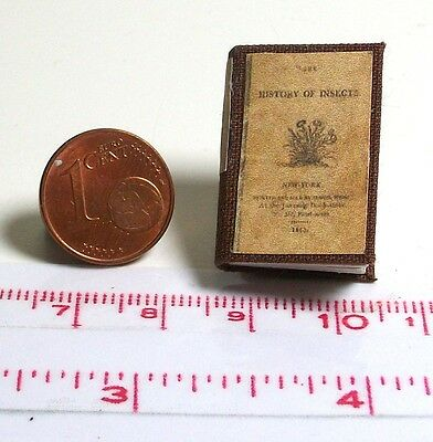 1236# Miniaturbuch - History of insects v.1813 - Puppenhaus-Puppenstube - M1zu12
