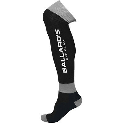 Ballards NEW Mx Black Grey Motocross Dirt Bike Knee Brace Guard Riding Socks