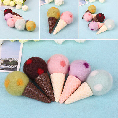 1PC Felt Knit Ice Cream Infant Handmade Toy Newborn Photography Prop Accessories