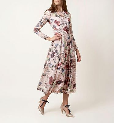 NEW Hobbs Invitation Rosabelle Floral Print Long Sleeve Fit & Flare Dress £299