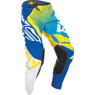 Fly Racing 2017 Mx Gear NEW Evolution 2.0 Blue Yellow White BOA Motocross Pants