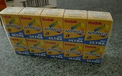 3 X Kodak Advantix Ultra Film Aps 200 25 Exp Sealed In Box Expired 01/2002