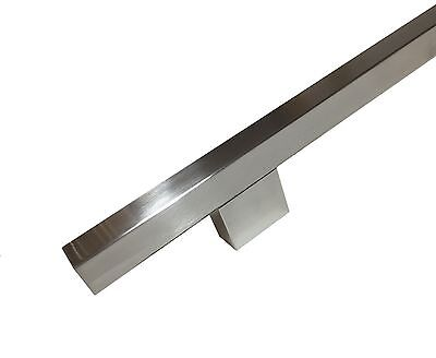 Pair Entrance Entry Front square Stainless Steel Door Handles with large bases