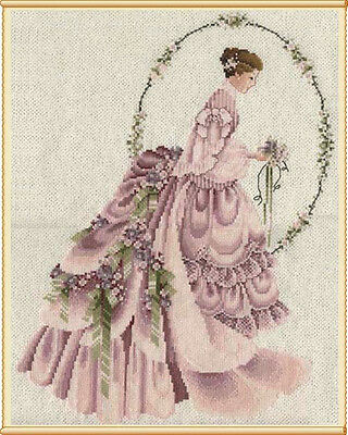 The Bride Or Victorian Lady  - Cross Stitch Chart - FREE POST