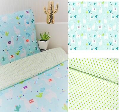 REVERSIBLE 2pcs baby bedding set DUVET COVER + PILLOWCASE NEW PATTERNS