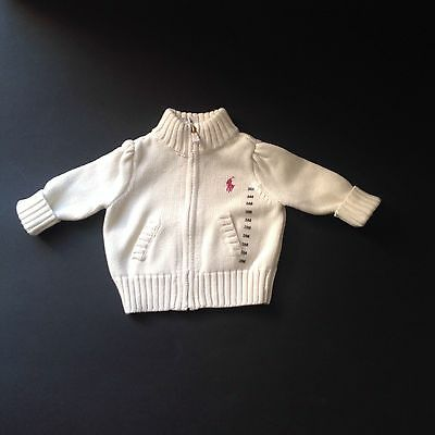 Ralph Lauren baby girls cardigan cream 0-3 m