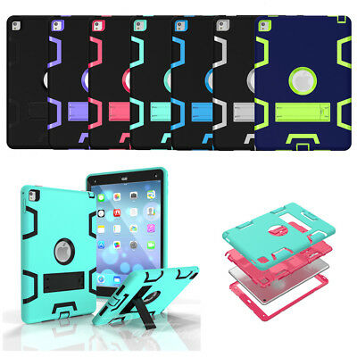 For Apple iPad Air Mini 2 3 4 5 6 2018 Shockproof Hybrid Tough Hard Case Cover