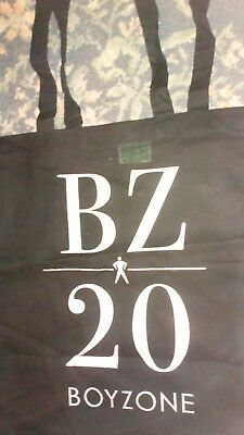 Officially Licensed - BOYZONE : BZ20 TOUR COTTON TOTE Shopping Bag