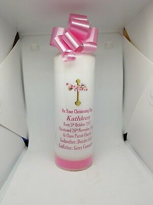 Personalised christening candles