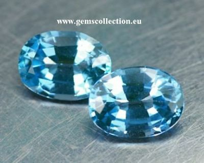 Aaa Natural Topaz - Topazio Ct 2.46 Pair Vvs Oval Cut Stunning Origin Brazil